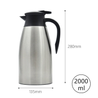 Wholesale Leak Proof Stainless Steel 68 Ounce Vacuum Insulated Teapot from china suppliers