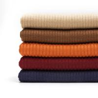 Wholesale Knit Anti-Pilling Viscose Cashmere Blend Rib Clothing Fabric from china suppliers