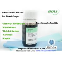 Wholesale Food Grade Pullulanase , 700 BU / ml Enzymes In Food Industry For Production Of High Glucose Syrup from china suppliers