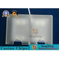 Wholesale Acrylic Thickening Matte Open Card Cover Box Size Wide Card For Poker Table Countertop Accessories Necessary from china suppliers