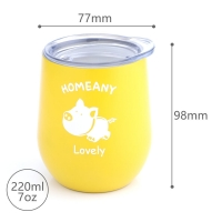 Wholesale BSCI 7 Oz 220ml Stainless Steel Stemless Wine Tumblers from china suppliers