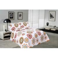 Wholesale Sun Flower Pattern Printed Quilt Set Needle Punched Cotton Bedspread And Coverlet from china suppliers