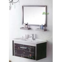 Italian classical birch solid wood floor standing for Floor standing mirrored bathroom cabinet