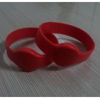 Wholesale Silicone rfid wrist band with red color from china suppliers
