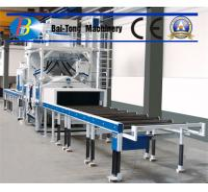 H Beam Electric Shot Blaster , Wheel Shot Blasting Machine Roller Conveyor Type