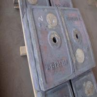 China sand steel casting iron cement liner plate on sale
