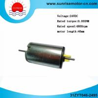 Wholesale Two Shaft Round 24V 0.055nm 4800rpm Motor Length 46 PMDC Motor (31ZYT046-2495) from china suppliers