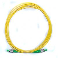 Buy cheap G657A1/A2 Yellow Fiber Optic Patch Cord Single mode cables ABS Material from wholesalers