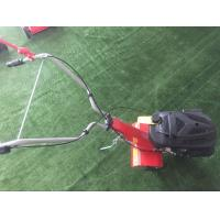 China Customized Logo Petrol Garden Tiller With Detachable / Big Grass Box on sale
