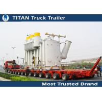 Wholesale Safety Multi Axle Hydraulic Modular Trailer , Gooseneck Low Loader Trailers from china suppliers
