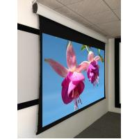 China Tensioned 3d Movie Theater Projection Screen , Widescreen Roll Up Projection Screen on sale