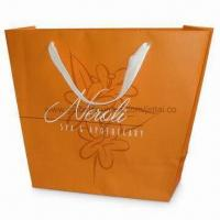 Wholesale Recycled Paper Bag with PP Rope Handle and Shinny/Matte Lamination, Available in Orange from china suppliers