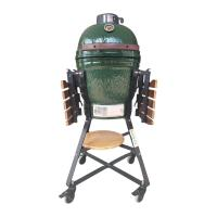 Wholesale Commercial Kamado Big Green Egg Stone Barbecue 18 Inch With Bamboo Handle from china suppliers