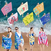 Wholesale Commercial Cool Beach Towels , Embroidered Beach Towels Smooth Surface from china suppliers