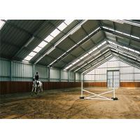 Wholesale Portable Prefab  Steel Farm Sheds Metal Horse Barn Kit Customized Size / Color from china suppliers