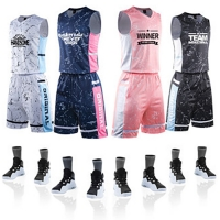 Wholesale Custom Basketball Uniforms Competition Polyester Breathable Training Suits from china suppliers