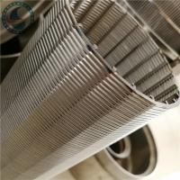Wholesale Stainless Steel Wedge Wire V Shaped Wire Slot Screen Pipe For Screening from china suppliers