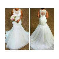 Buy cheap Comfortable Sleeveless Lace Mermaid Bridal Gowns With Back Zipper from wholesalers