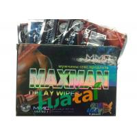 Wholesale Herbal Maxman Delay Wipes For Long Time Sex / Stop Premature Ejaculation from china suppliers