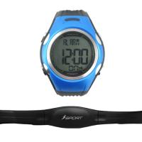 China Fashion 3 ATM Waterproof Blue Unisex Wristband Heart Rate Monitor Watch with Chest Belt/Strap on sale