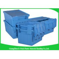 Euro Nestable Heavy Duty Plastic Storage Containers , Plastic Box With Hinged Lid Leakproof