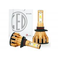 Wholesale All In One Aluminum Car LED Headlight Bulbs Tri Color H4 H7 9005 9006 DRL 25W 2500LM from china suppliers