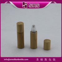Wholesale SRS 5ml bamboo roller ball bottle, bamboo plastic eye cream bottle from china suppliers