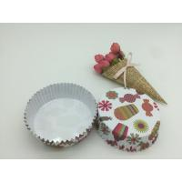 Wholesale Round Shape Paper Baking Cups PET Coated Film Candy / Flower Pattern Cupcake Liners from china suppliers