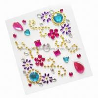 Wholesale Rhinestone 3D stickers for mobile phone decoration from china suppliers