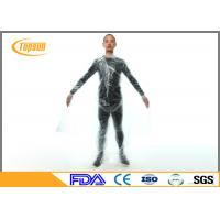 Wholesale Clear / Orange PE Slim Body Sweat Suit For Weight Loss , Workout Sweat Suit from china suppliers