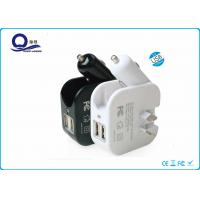 2 In 1 Home / Car USB Charger With Multiple Usb Ports , Triple Usb Travle Car Charger