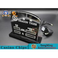 Wholesale Dragon Tiger Casino Table LED Limited Sign Poker Table Bet Limit Sign For Poker Club Blackjack Table Games from china suppliers