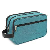 Wholesale Bathroom Waterproof Hanging Travel Toiletry Bag With Leather Handle from china suppliers