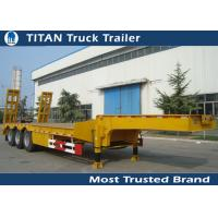 Wholesale 2 - 8 Axle 60 Ton Low Bed trailer for bulldozer , crushing machine ,  transformer from china suppliers