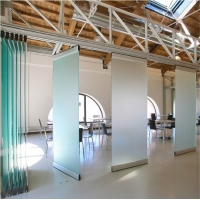 Buy cheap EBUNGE Folding Movable Sliding Door Tempered Office Glass Partition Wall from wholesalers