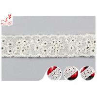 Wholesale Fashion Embroidered Floral Cotton Eyelet Lace Trim For Nighty Trade Assurance from china suppliers