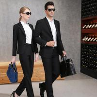Wholesale 65% Polyester Balck Color Business Suit For Men And Women With Two Buckles from china suppliers