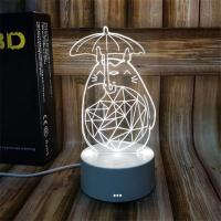 Buy cheap custom designs Indoor Acrylic 3D LED  Night  Light for Gift , OEM Decoration LED Light in many colors from wholesalers