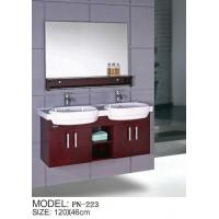 Wholesale solid wood double basin hanging/floating/wall-mounted bathroom vanity/bathroom cabinet from china suppliers