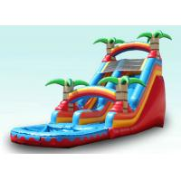 Wholesale Red Tropical Kids Garden Water Slide With Pool , Blow Up Water Slide Backyard Inflatable Water Slide from china suppliers