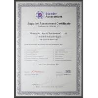 Guangzhou Joyord Sportswear Co., Ltd Certifications