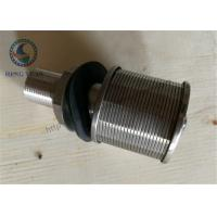 Buy cheap 316L Stainless Steel Wedge WIre Slot Water Screen Nozzle 57mm Diameter from wholesalers