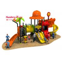 China Theme Roof Outdoor Playground Equipment , Child Play Slide Multi - Functional on sale