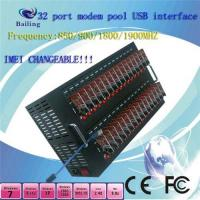 Wholesale USB 32 Ports GSM SMS MODEM POOL Q24plus (850/900/1800/1900Mhz) from china suppliers