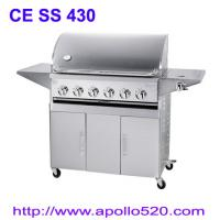 Wholesale 6Burner BBQ on Cart with side burner from china suppliers
