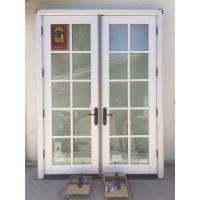 China aluminum casement door entrance door french door on sale