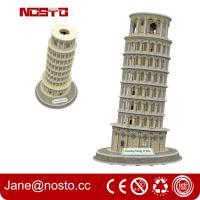 Wholesale Architectural models of famous buildings , 3D puzzle souvenir leaning tower of pisa from china suppliers