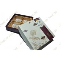 Wholesale Elegant Cardboard Food Packaging Boxes , Embossed Logo Moon Cake Paper Gift Box from china suppliers