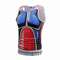 Wholesale Colorful Cartoon Sleeveless Custom Anime T Shirts Sublimation Printing from china suppliers