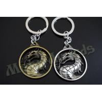 China Dragon Designed Zinc Alloy Metal Key Chains Metal Keyrings Antique Gold Silver Plating on sale